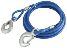 NEW BLACKSPUR TOWING PULL TOW ROPE PLASTIC COATED WIRE 2 TONS TOWING CAPACITY