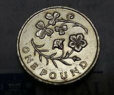 2014 £1 One Pound Coin Circulated Floral Emblem N/Ireland Shamrock & Flax UK GJ1