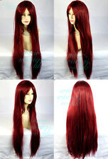Wiwigs Watch Out Long Cosplay Dark Red Straight Heat Resistant Ladies Wig