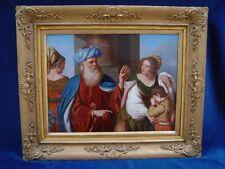 *Vertreibung der Hagar*nach Guercino (1591-1666)Öl/Lw.c1800.Antique Oil Painting