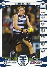 Signed 2014 GEELONG CATS AFL Card MARK BLICAVS