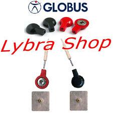 Globus 4 ADATTATORI (PER Elettrodi CLIP) x Elettrostimolatore con CAVI SPINOTTO