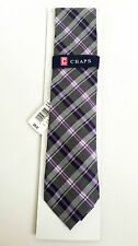 BNWT Authentic CHAPS By RALPH LAUREN Men's Necktie Purple Plaid $36 FREE SHIP