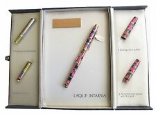 ELYSEE LIMITED EDITION LAQUE INTARSIA FOUNTAIN PEN 18K X FINE PT NIB NEW IN BOX
