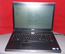 "Dell Precision M6500 17"" Laptop-Core i7 Q820  -Nvidia -Win7 Pro COA - Incomplete"