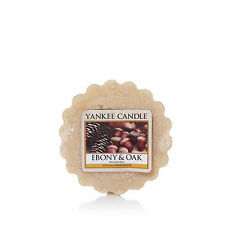 YANKEE CANDLE cialda da fondere wax melt tarts Ebony & Oak durata 8 ore