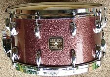 RARE 1980 GRETSCH 7 1/2 x 14 BURGUNDY sparkle snare drum 100% original