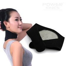 Power Ionics Magnetic Therapy F.I.R Heating Neck Brace Support Strap Pain Relief