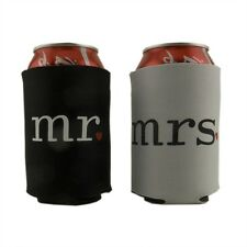 Mr. and Mrs. Can Cooler Foam Holder Wedding Design Gift Accessories Decoration