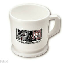 MARVY OPAL NO.4 BICYCLE BARBERSHOP PLASTIC SHAVING MUG