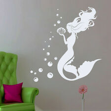 Mermaid Vinyl Decal Water Nymph Wall Sticker Bathroom Nautical Nursery FD179