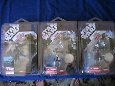 STAR WARS 30th ann LOT 3x figures  GALACTIC MARINE / KASHYYYK / AIRBOURNE +cases