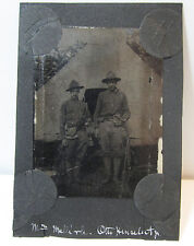RARE Tintype Photo  - WWI American Soldiers in full Uniform  ID'd- ca. 1917