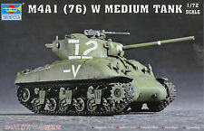 Trumpeter 1/72 (20mm) M4A1(76)W Sherman Medium Tank