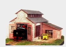S SCALE/Sn3/Sn2 WISEMAN MODEL SERVICES BACKWOODS ENGINE HOUSE & REPAIR SHED KIT