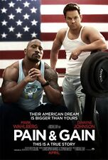 PAIN AND GAIN ORIGINAL Advance DOUBLE SIDED MOVIE FILM POSTER Mark Wahlberg