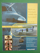 3/1999 PUB AVION PILATUS PC-12 BUSINESS AIRCRAFT FLUGZEUG ORIGINAL ADVERT