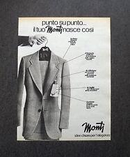 K451- Advertising Pubblicità -1975- MONTI , IDEE CHIARE PER L'ELEGANZA