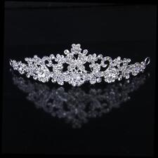 Wedding Bridal Crystal Diamante Butterfly Flower Crown Headband Tiara Headpiece