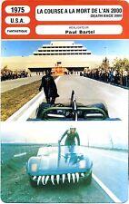 Fiche Cinéma. Movie Card. La course à la mort de l'an 2000  (USA) 1975