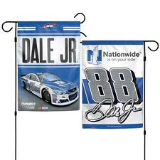 "DALE EARNHARDT JR. #88 NATIONWIDE 11""X15"" 2 SIDED GARDEN FLAG NEW WINCRAFT"