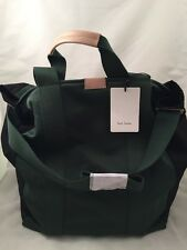 Paul Smith Women Bag Tote Slim Green Made In Italy RRP£220