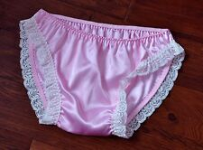 JOL 2 131 - Lovely silky baby pink DOUBLE layer satin panties, BN, 1XL