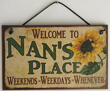 Nan s Sign Place House Love Welcome Grandma Mom Grand Parent Mother Best #1