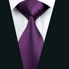 A-236 Classic Tis Purple Solid 100%Silk Jacquard Woven Men's Tie Necktie wedding