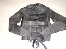 Straight jacket, Black full costume escapology suit, Leather Size Small/med
