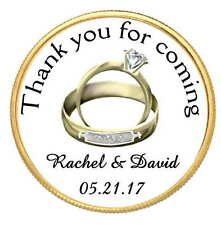 120 GOLD WEDDING RINGS WEDDING BRIDAL SHOWER TAGS LABEL STICKERS FOR YOUR FAVORS