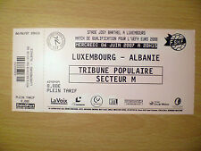 Ticket: QUALIFY FOR THE UEFA EURO MATCH 2008- LUXEMBOURG v ALBANIE 6 JUNE