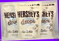 3 Hershey's Cookies 'n' Creme Drops Candies 8 oz ea Bag EXP. New & Fresh