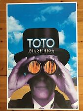 TOTO, MINDFIELDS, RARE AUTHENTIC 1999 POSTER
