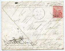 """Cabo de Buena Esperanza 1881 """"soldados Letra"""" 1st Boer Guerra con 1d a Escocia."""