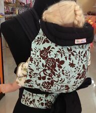 NEW MEI TAI BABY SLING (PLUS SIZE) CARRIER BROWN FLOWER ON GREEN
