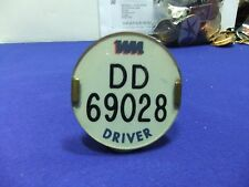 vtg badge bus driver dd 69028 lapel cap transport 1960s 70s ? psv public service