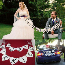 JUST MARRIED Wedding Banner Party Decoration Bunting Garland  Photo Booth Props