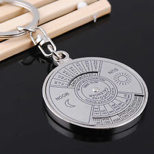 Hot perpetual Calendar Keyring keyfob Unique Compass Metal KeyChain Gift