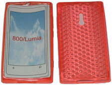 For Nokia Lumia 800 Pattern Soft Gel Case Cover Protector Pouch Orange New UK