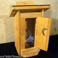 Handcrafted CEDAR Wood MAINE OUTHOUSE Bird/Squirrel FEEDER Shingled Wooden House