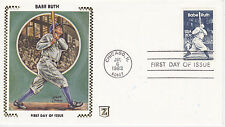 Z ZASO SILK CACHET FIRST DAY COVER FDC - 1983 BABE RUTH BAMBINO BASEBALL BR-23