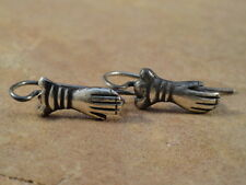 Mexican Mexico Sterling Silver Los Manos Earring Wires