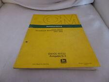 Orig. Betriebsanleitung John Deere Hochdruckpresse 342 und 346