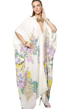 Roberto Cavalli Multicolor Silk Crepe De Chine Caftan Dress  ( 42 IT- 6US)