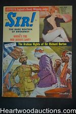 Sir! Apr 1960 Norm Eastman cover, Int. Bondage, Boxing Max Baer - Ultra High Gra