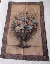 "Hydrangea Tulips Floral Botanic unfinished Tapestry Wall Hanging Panel 55""x37"""