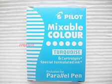 6 Special Formulated Turquoise Ink Cartridges for Pilot Parallel Calligraphy Pen