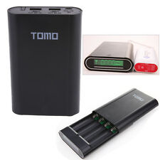 Dual 2 USB 4x 18650 Battery Smart Charger LCD Mobile Power Bank Case Shell Box