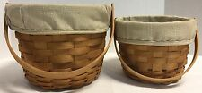 *2003* Set of 2*Longaberger*Fruit Baskets-Lines & Protectors  16314V  S109